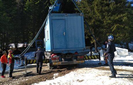 Kontejnerji Civilne zaščite - dostavljeni 2. 3. 2021