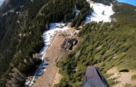 Mozirska koča - pogorišče iz zraka - Foto: Robert Fabjan